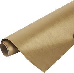 kraft-gold gift wrap  | CB2