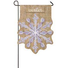 Amazon.com : Snowflake Garden Flag : Patio, Lawn & Garden