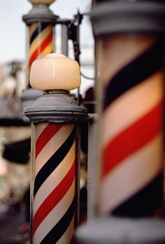 How to Make a Wooden Barber Shop Pole thumbnail Album Design, Old School Barber Shop, Barber Shop Pole, Shaved Hair Cuts, Master Barber, Victory Rolls, Modern Hairstyles, Men's Grooming, Haircuts For Men