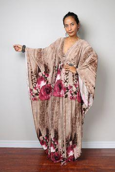 Boho Maxi Dress - Kimono Butterfly Maxi Dress : Funky Elegant Collection No.1