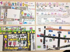 Community Maps, Mother's Day Adventures, and Spring Diversions Community Helpers Kindergarten, Kindergarten Social Studies, Teaching Social Studies, Teaching Resources, School Community, Teaching Ideas, Social Studies Communities, Communities Unit, Social Studies Projects
