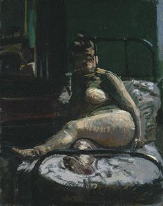 Walter Sickert, La Hollandaise, c.1906 Both Sickert and his works are fascinating to analyse, particularly his dark and disturbing nudes. You can read all about La Hollandaise at Tate online.