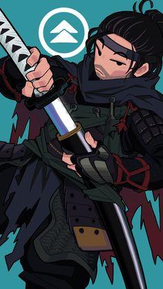 Ghost Armor, Samurai Concept, Samurai Wallpaper, Samurai Artwork, Ninja Art, Ghost Of Tsushima, Japanese Artwork, Character Design Inspiration, Art Reference