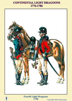 Fourth Continental Light Dragoons 1780 Native American History, American Civil War, British History, Women In History, Ancient History, British Army Uniform, Continental Army, Colonial America, American Revolution
