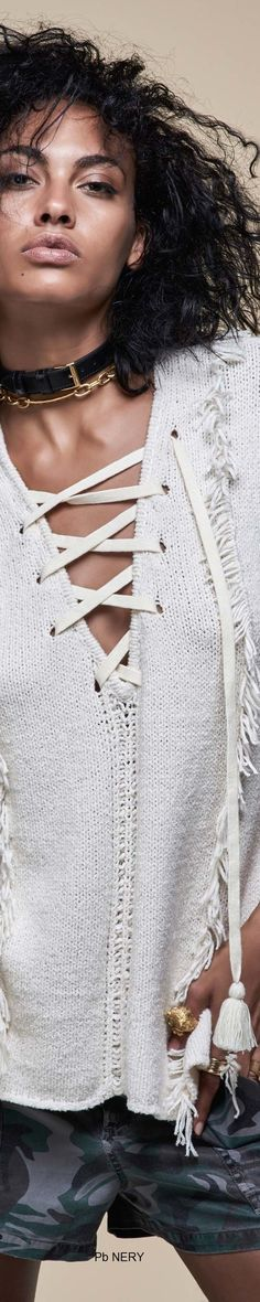 Pam & Gela Spring 2017 RTW All Fashion, Fashion Details, Runway Fashion, Spring Fashion, Fashion Show, Spring Street Style, Spring Style, Pam & Gela, Sweater Design
