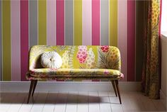 Harlequin delphine collection - upholstery fabric and wallpaper for living room Harlequin Wallpaper, Wall Wallpaper, Sanderson Fabric, Stunning Wallpapers, Decorating Supplies, Decorating Ideas, Indian Homes, Made To Measure Curtains, Textiles