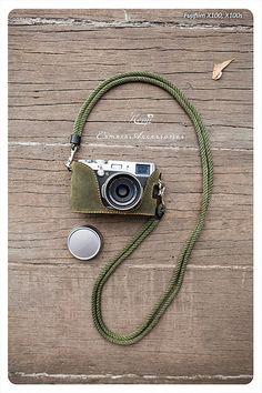 Kenji Leather Half Case for Fujifilm, X100S Green Tea Suede