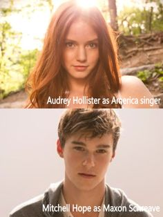 This is who i think should play Maxon and America if they ever made a selection movie these are the best pictures i could find of them, Audrey Hollister is actually the model on the cover of the books.