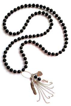 Beautiful Black Lava ketting voor Pink Ribbon € 44,95 -> Jewellicious Designs doneert € 8,03 aan Pink Ribbon.