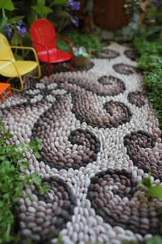 Fairy garden path mosaic fairy house fairy garden beneath the ferns #beneaththeferns #fairygarden 1