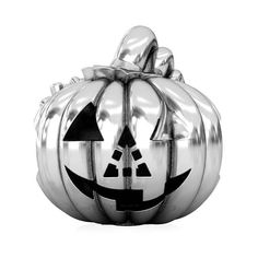 a72e709f5 Pumpkin Jack Lantern carving Halloween party European charm bead fits  Pandora compatible Bella Fascini silver jewelry