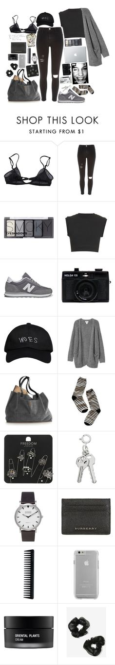 """""""Untitled #75"""" by annasophierose ❤ liked on Polyvore featuring Bllack by Noir, River Island, H&M, adidas Originals, New Balance, Holga, October's Very Own, Monki, Madewell and Topshop"""