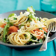 Smoked salmon and rocket pasta   Australian Healthy Food Guide