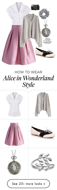 """""""They Call Me Time"""" by twisted-magic on Polyvore featuring Chicwish, Natasha, Disney, Belk Silverworks and Oxford"""