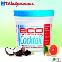 Our 16oz Eco Cocktail Curl & Styling Creme is also available at @walgreens stores.