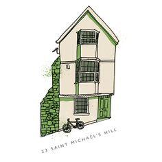23 St Michaels Hill by Bristol based illustrator Tim Sutcliffe. £55 framed.