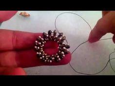 Tutorial | Incastonare cabochon da 18mm con perle e superduo/twin - YouTube