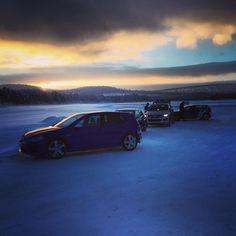 VW Golf R Drive Event North Sweden 2014 #instacar #picoftheday #cars #golf #golfr #volkswagen #vwgolf #autovideoreview #auto #drive #drift #sweden