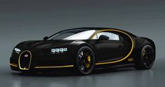 Bugatti Chiron Rendered in Black and Gold - Motorward