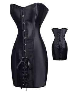 AA9267 Vintage leather harness gothique steel boned corset black steampunk corset dress gothic corset overbust latex women body
