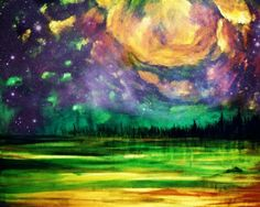 Modern+Purple+Abstract+Landscape+Art+Print+green+by+NikolWikmanArt,+$30.00