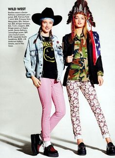 "Image Amplified. The Flash and Glam of All Things Pop Culture: Photography, Music, Fashion, Film and Art. - TEEN VOGUE: Bregje Heinen & Beegee Margenyte in ""Buffalo Girls"" by Photographer Richard Burbridge"