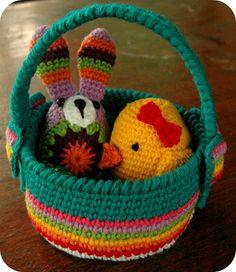Jam made: Crochet Easter basket