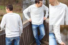 E-Book Schnittmuster Billund ein Basic Raglan Pullover für Herren bis Größe XXXL