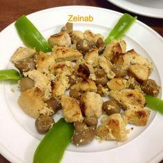 Zeinab Barakat وجبة لذيذة وخفيفة وخاصة لاصحاب الرجيم صينية شيش طاووق بالفطر من اعداد