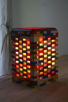 Croissant and lavender: LEGO lamp