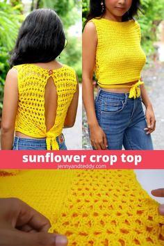 Crochet Crop Top, Crochet Blouse, Crochet Shorts, Crochet Bikini, Cotton Crochet Patterns, Sewing Patterns, Slouch Hat Crochet Pattern, Crop Top Pattern, Crochet Summer Dresses