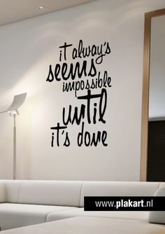 Ontwerp Muurtekst | Muurtekst It Seems... Woonkamer Office Wall Art, Office  Walls