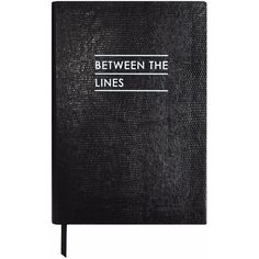 Sloane Stationery - Between the Lines Notebook Black ($63) ❤ liked on Polyvore featuring home, home decor, stationery, fillers, books, decor, other and stationary