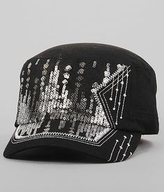 Sequin Military Hat