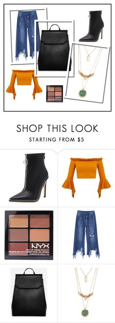 """Trendy on a budget!"" by chawla-sanya on Polyvore featuring NYX, CHARLES & KEITH, booties, fashionable, trend, CasualChic and polyvorefashion"