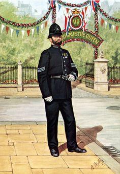 Sergeant - Metropolitan Police, 1897 Police Uniforms, Police Officer, Roi George, School Ties, Police Corruption, London Police, Dna Results, London Landmarks, London History