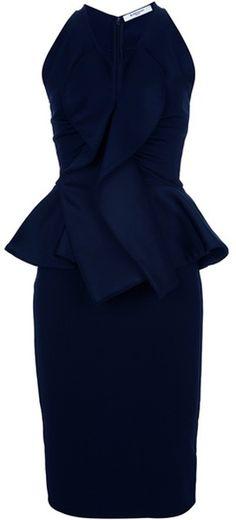 Givenchy Peplum Waist Dress