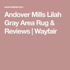 Andover Mills Lilah Gray Area Rug & Reviews | Wayfair