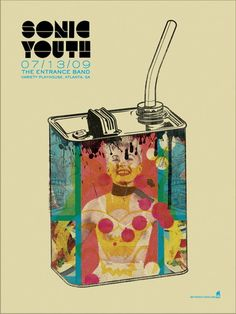 Sonic Youth Concert Poster by Methane Studios