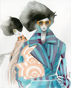 A fashion illustration editorial for Dries van Noten Fall 2014 womenswear. Fashion Illustration Portfolio, Fashion Illustration Collage, Woman Illustration, Fashion Collage, Fashion Painting, Fashion Art, Illustration Editorial, Fashion Sketches, Fashion Sketchbook