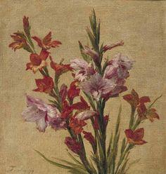 Glaïeuls (Gladiolen ), Henri Fantin-Latour, 1879 | Museum Boijmans Van Beuningen