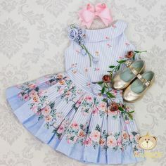As flores invadiram nossa Coleção Jardim Secreto 💐💖 ⚜️ #novacoleção Jardim Secreto _________ VENDAS/INFORMAÇÕES Cute Little Girl Dresses, Cute Little Girls, Baby Girl Dresses, Baby Dress, Outfits Niños, Kids Outfits, Toddler Fashion, Kids Fashion, Adorable Petite Fille