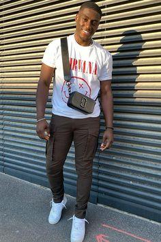 Black Men Street Fashion, Black Men Summer Fashion, Street Style Outfits Men, Man Fashion, Cargo Pants Outfit Men, Green Cargo Pants Mens, Dope Outfits For Guys, Summer Outfits Men, Mens Streetwear Fashion