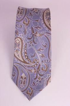 Claiborne Concepts Mens Silk Neck Tie Blue White Paisley #Claiborne #NeckTie