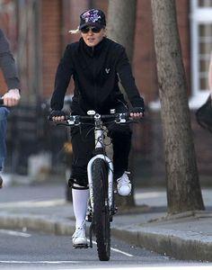 Madonna rides...