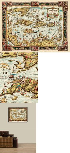 24x30 1760s North American Historic Vintage Style French and Indian Wall Map