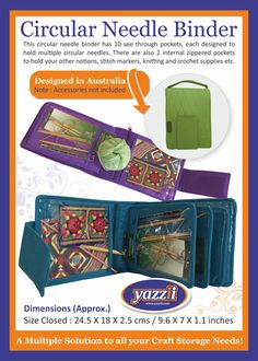 Yazzii offers great cosmetic bags and jewelry organisers including jewellery storage, craft storage and craft organisers Craft Organization, Craft Storage, Cosmetic Storage, Cosmetic Bag, Crochet Supplies, Craft Accessories, Circular Needles, Stitch Markers, Jewellery Storage