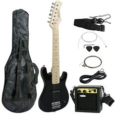 Zeny 30 Kids Electric Guitar with Amp  Much More Guitar Combo Accessory Kit Black * Find out more about the great product at the image link.Note:It is affiliate link to Amazon.