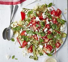 Courgette & couscous salad with tahini dressing