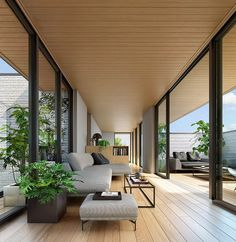 Japan Interior, Forest House, Interior Styling, Interior Architecture, Balcony, Terrace, Entrance, House Plans, Living Room
